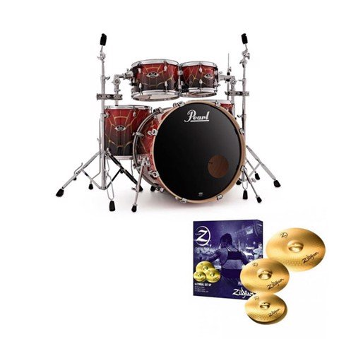 PEARL EXA 725 + HWP 830 + PLZ4PK ACOUSTIC DRUM SETS
