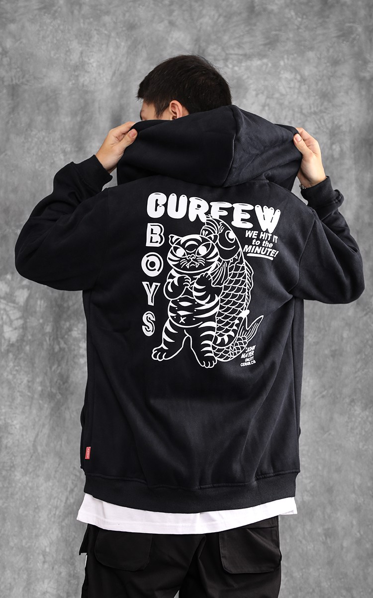 Curfew Boys Jacket In Black