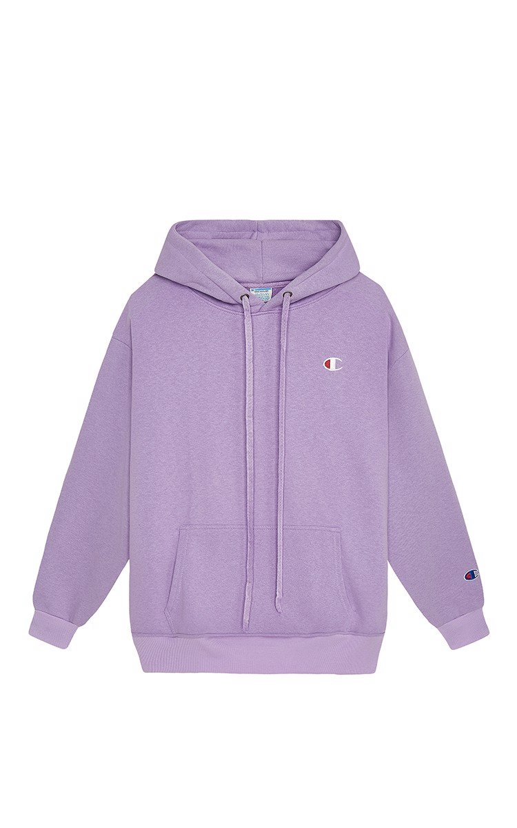 Champion Logo Hoodie In Purple
