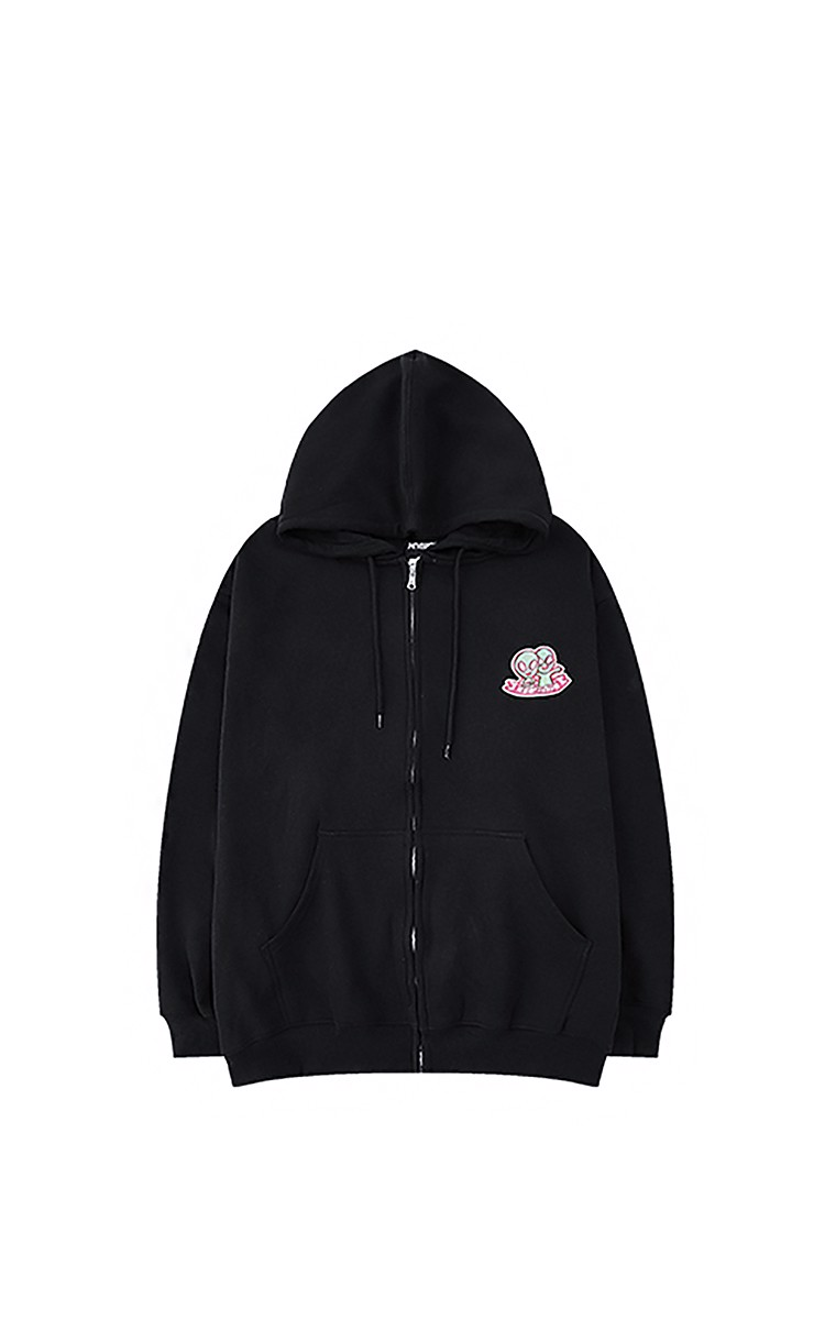 Jacket With Small Logo In Black