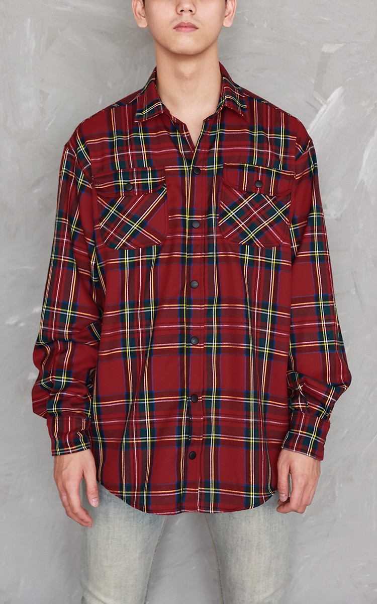 Flannel Shirt In Red