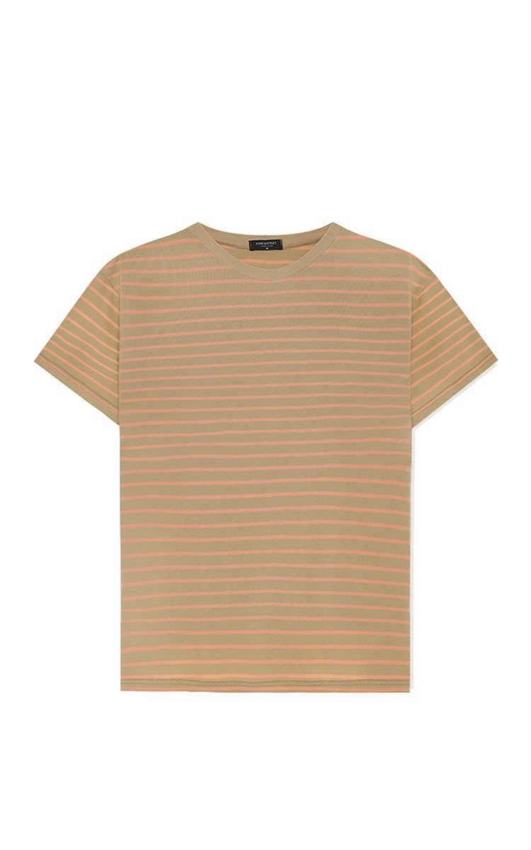 Striped T-Shirt In Brown/Orange