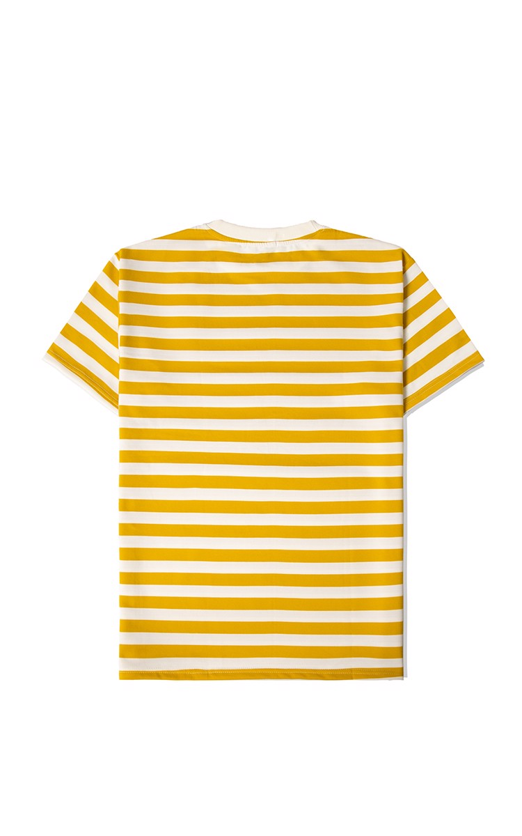 Striped T-Shirt In Yellow/White