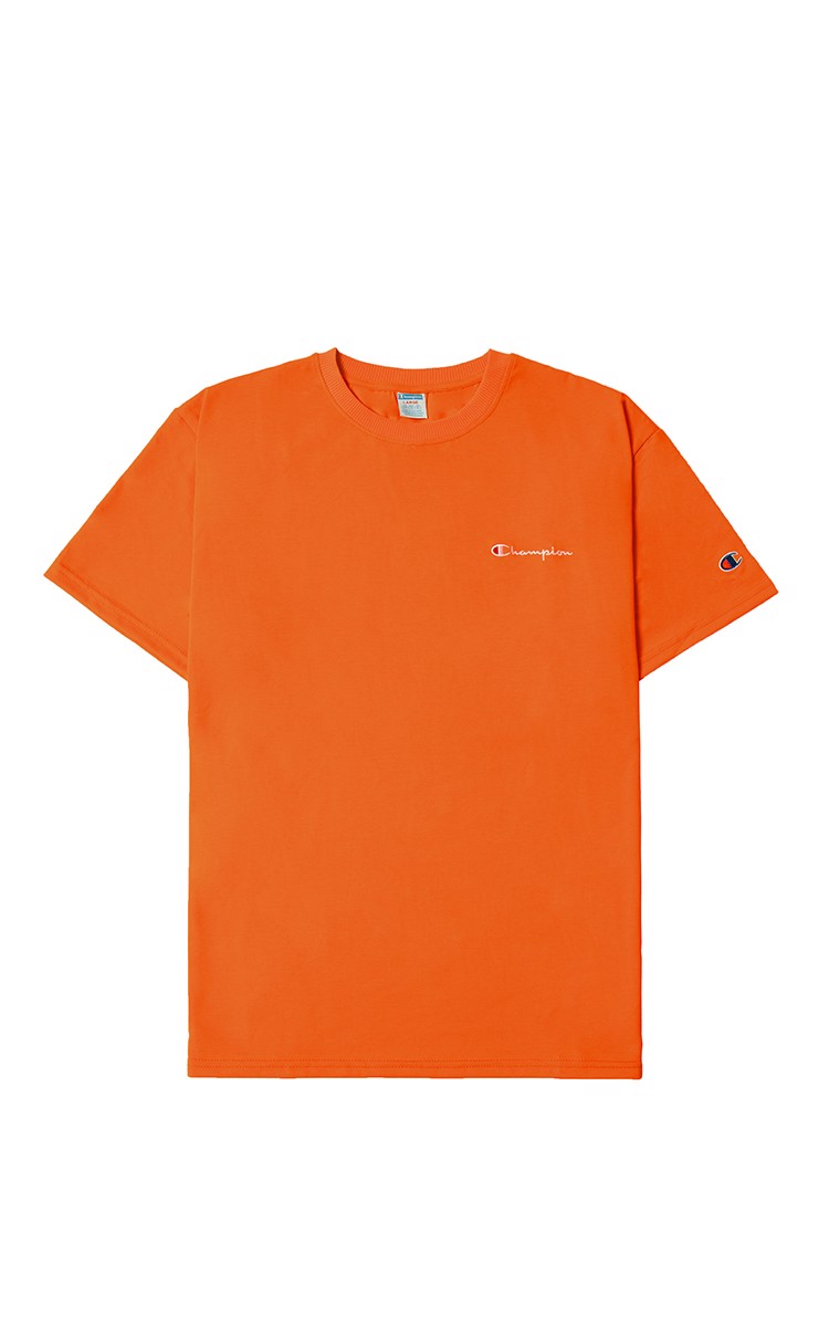 Champion Embroidered Logo T-Shirt In Orange