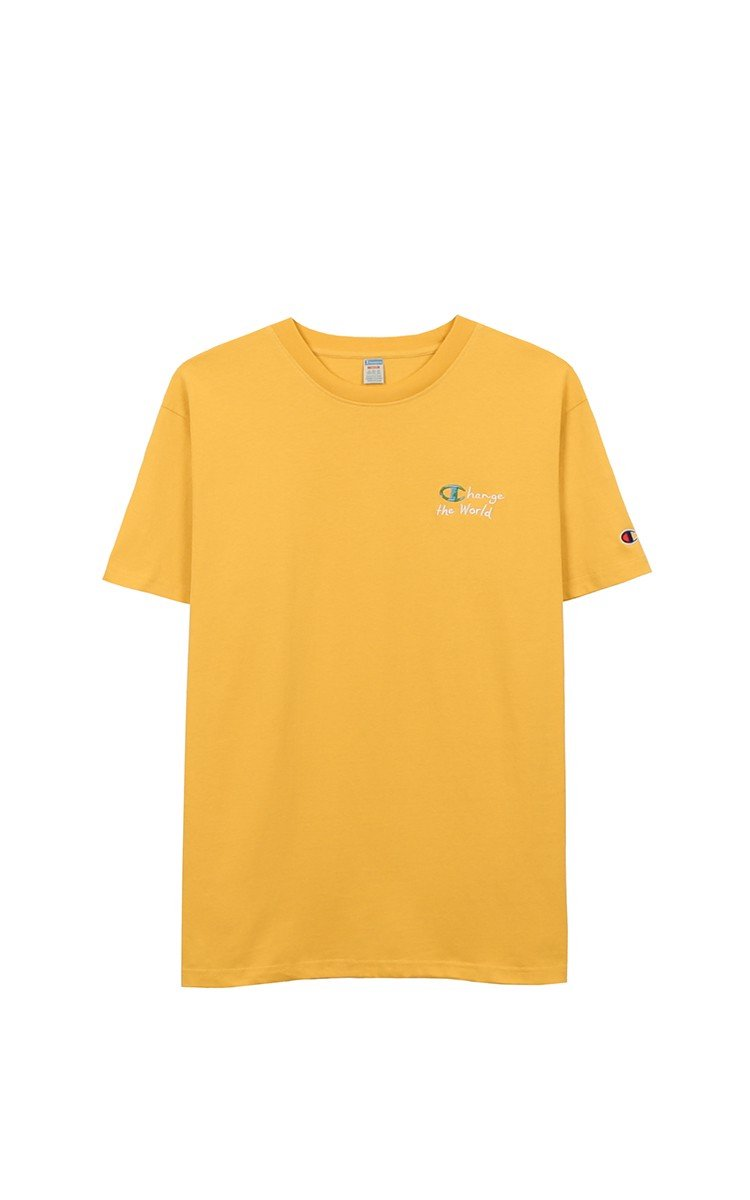 Champion Change The World T-Shirt In Yellow