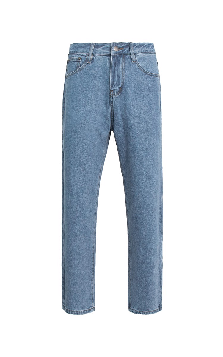 Baggy Jean In Mid Wash Blue