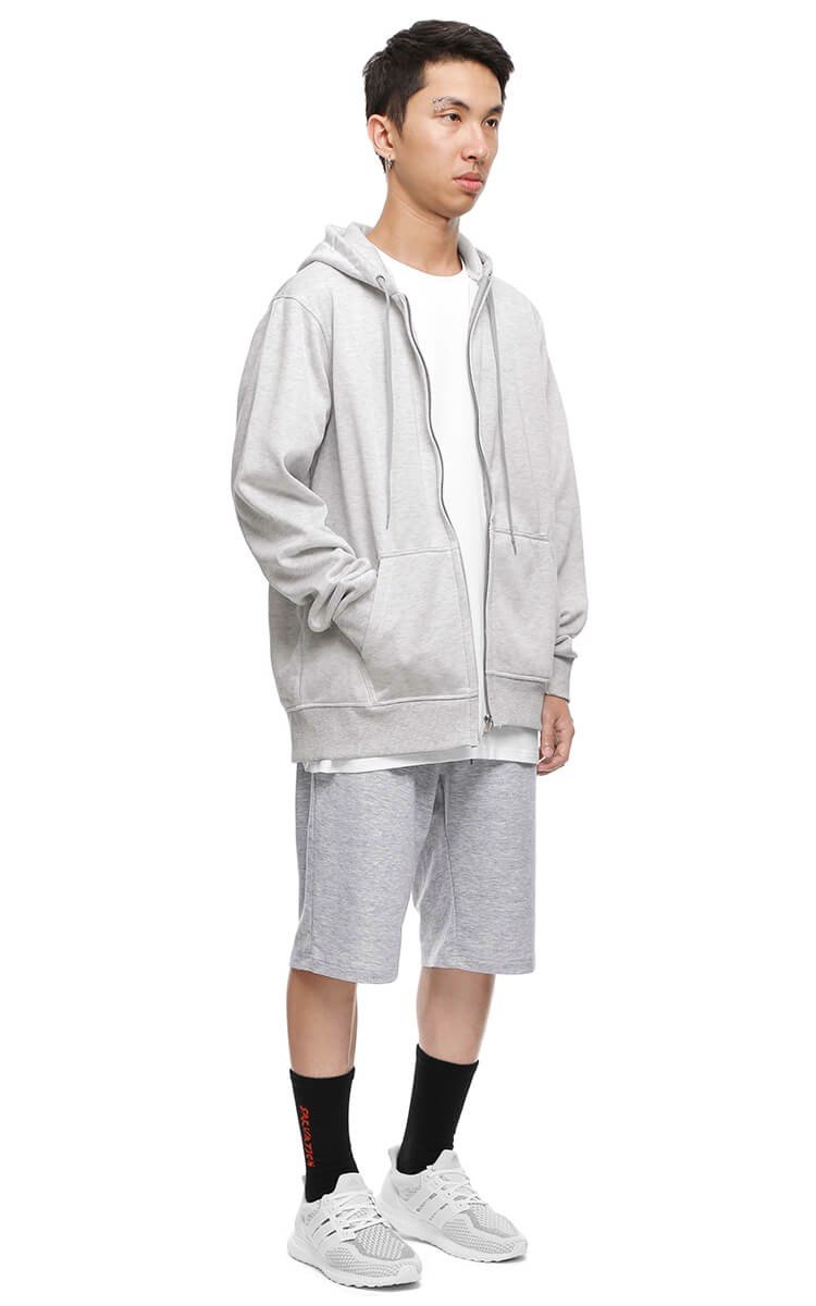 3Hundred Hooded Zip Up Jacket In Grey