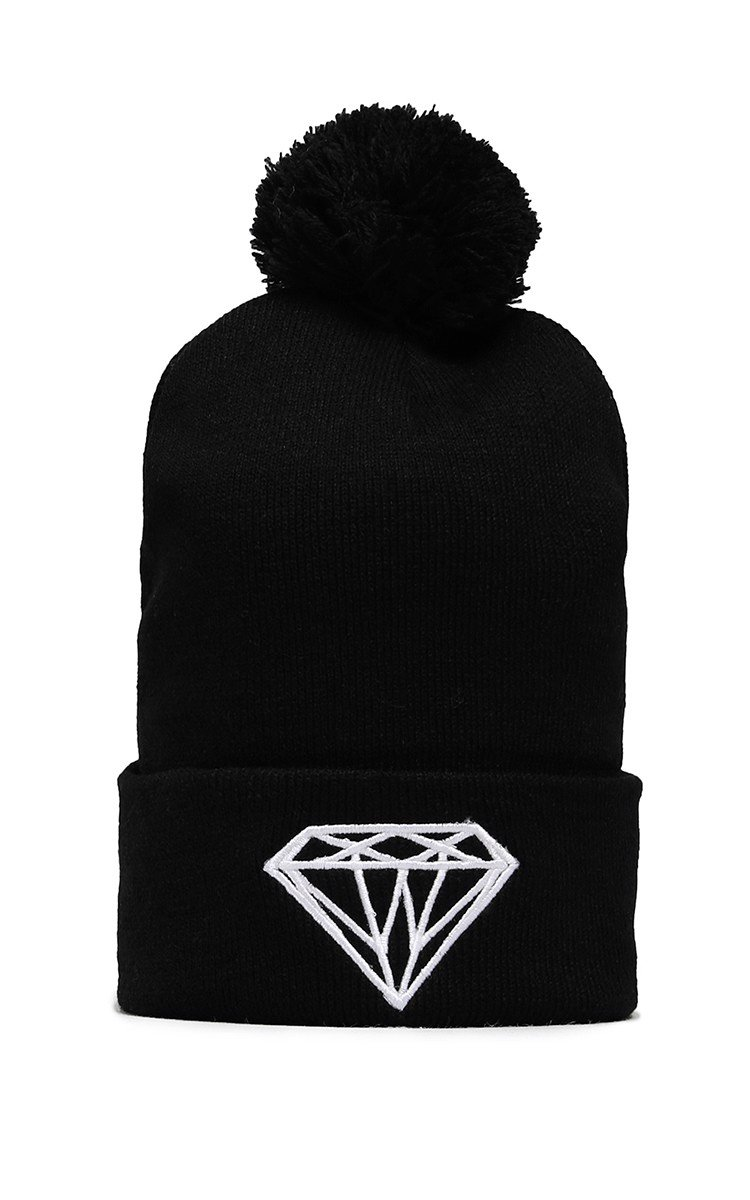 Diamond Beanie In Black