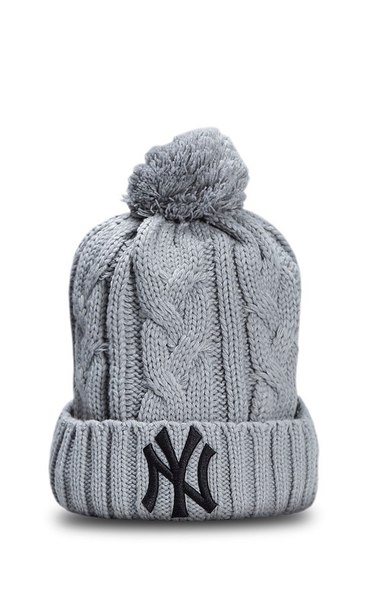 NY Beanies In Grey