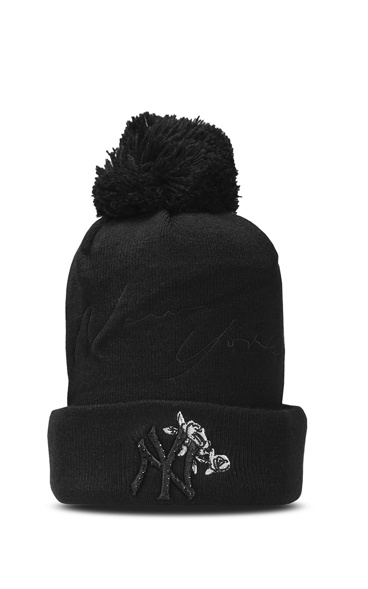 NY Beanies In Black