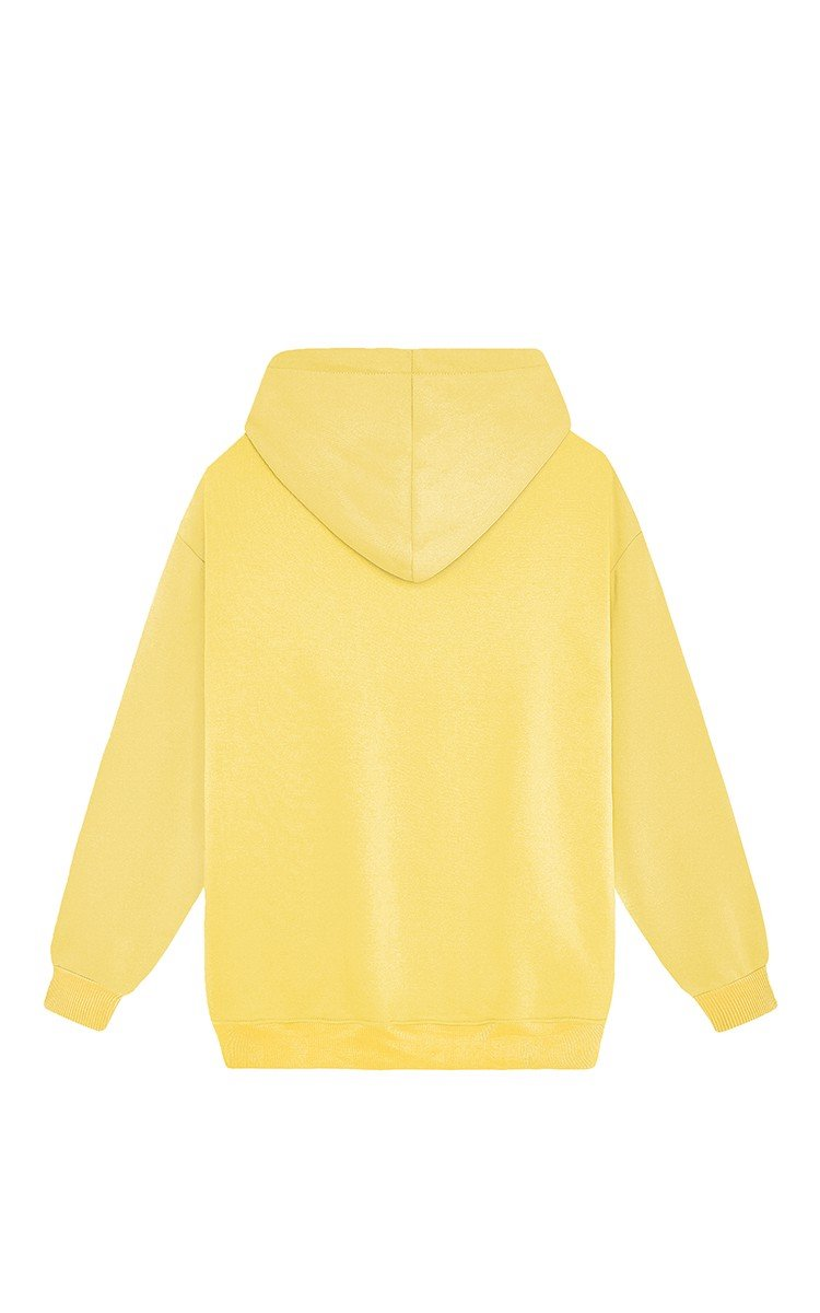 Champion Embroidered Logo Hoodie In Cornsilk