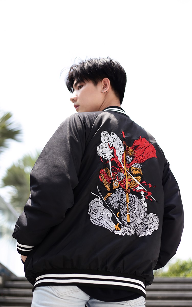 Sun Wukong Sukajan Jacket In Black