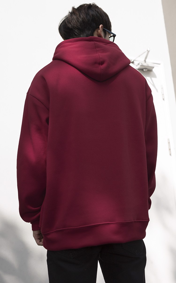 Champion Logo Hoodie In Red