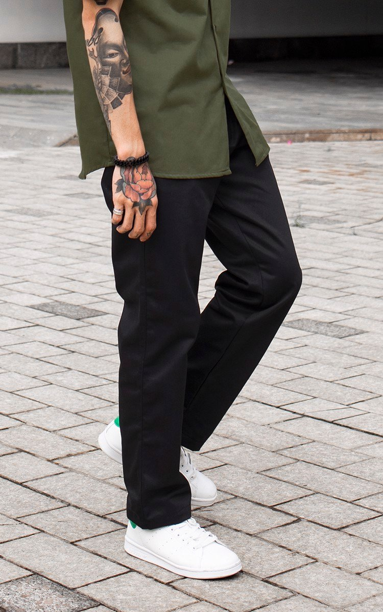 Baggy Khaki Pants In Black