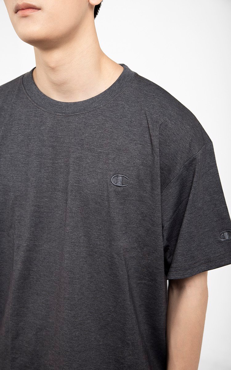 Champion Logo T-Shirt In Grey