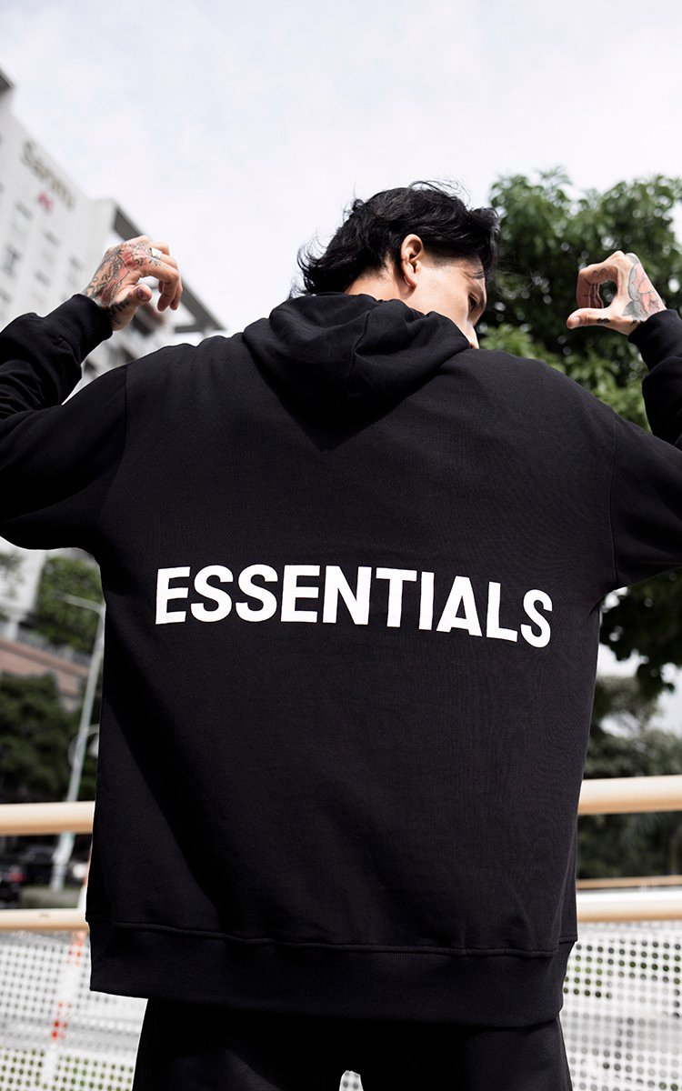 Essentials Hoodie In Black