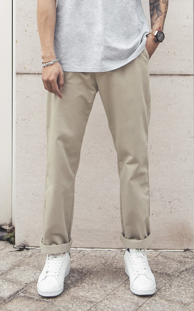 Baggy Khaki Pants In Beige