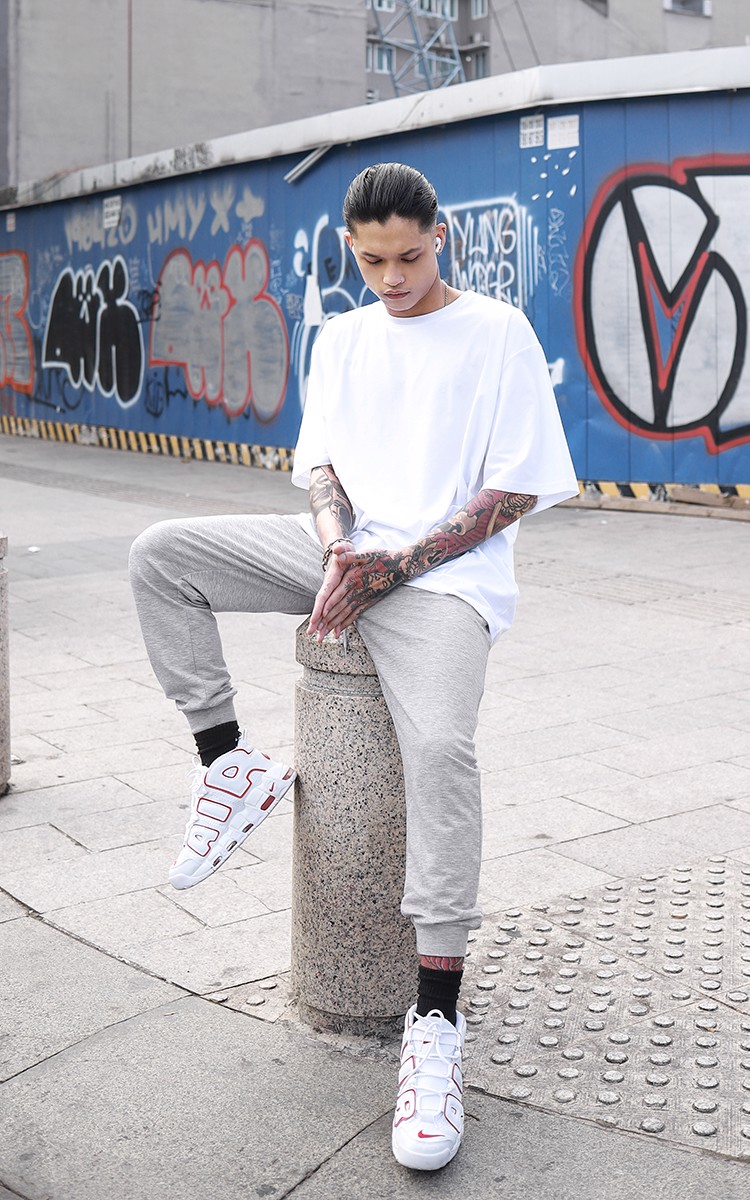 3Hundred Reflective Logo Jogger Pants In Grey