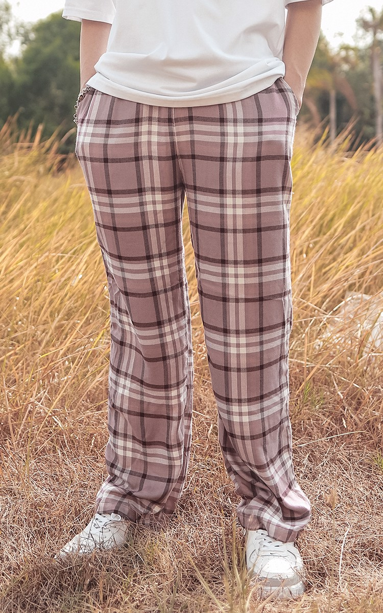 Flannel Pajama Pants In Pink
