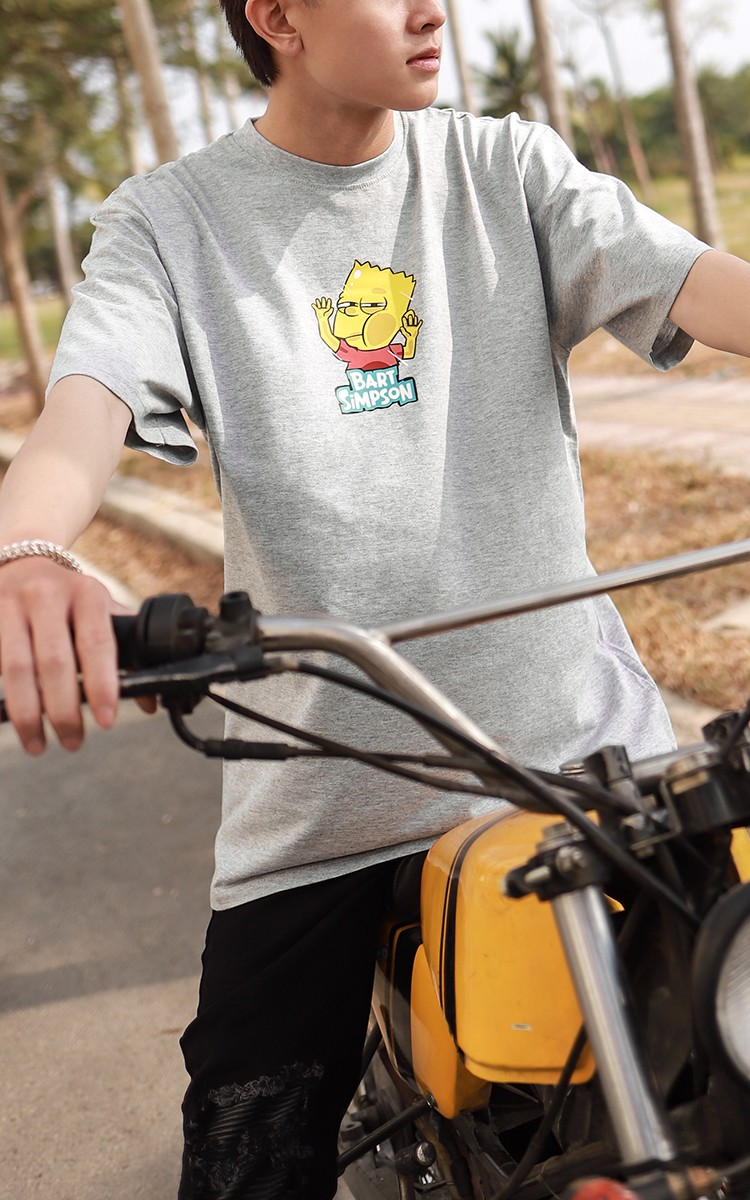 Bart Simpson Tee Grey