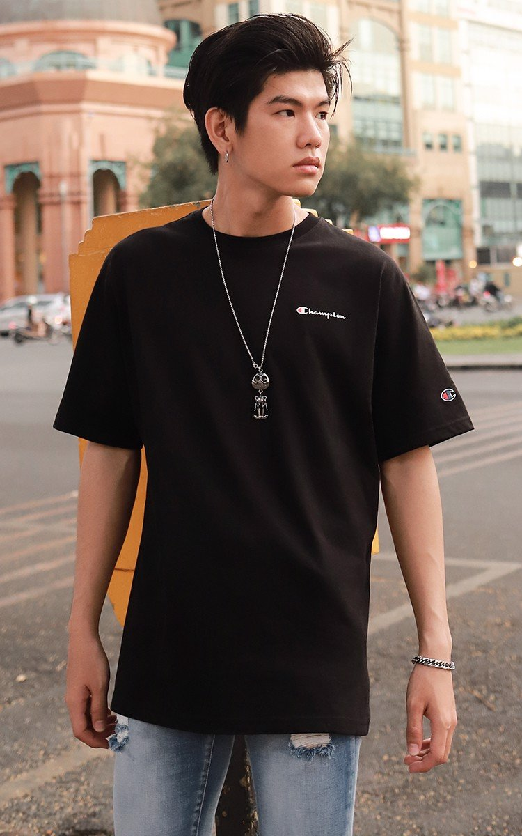 Champion Graphic Logo T-Shirt In Black