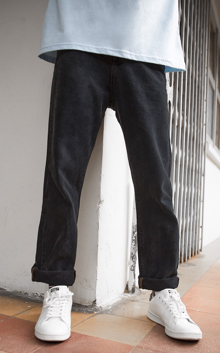 Baggy Jeans In Washed Black