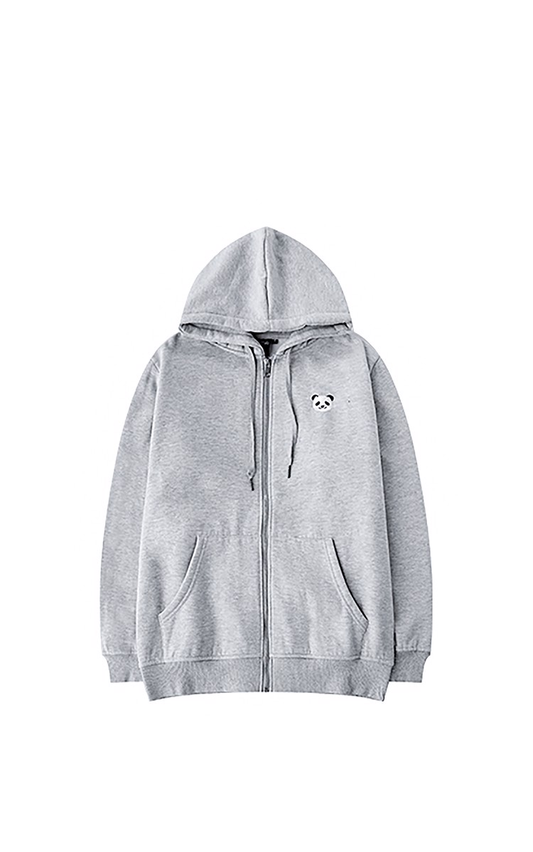 Jacket With Panda Logo In Grey