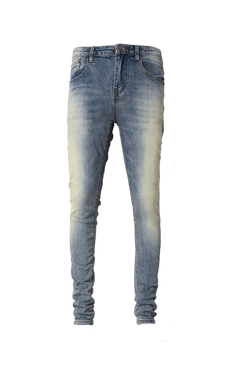 Stack Skinny Jeans In Mid Wash Blue