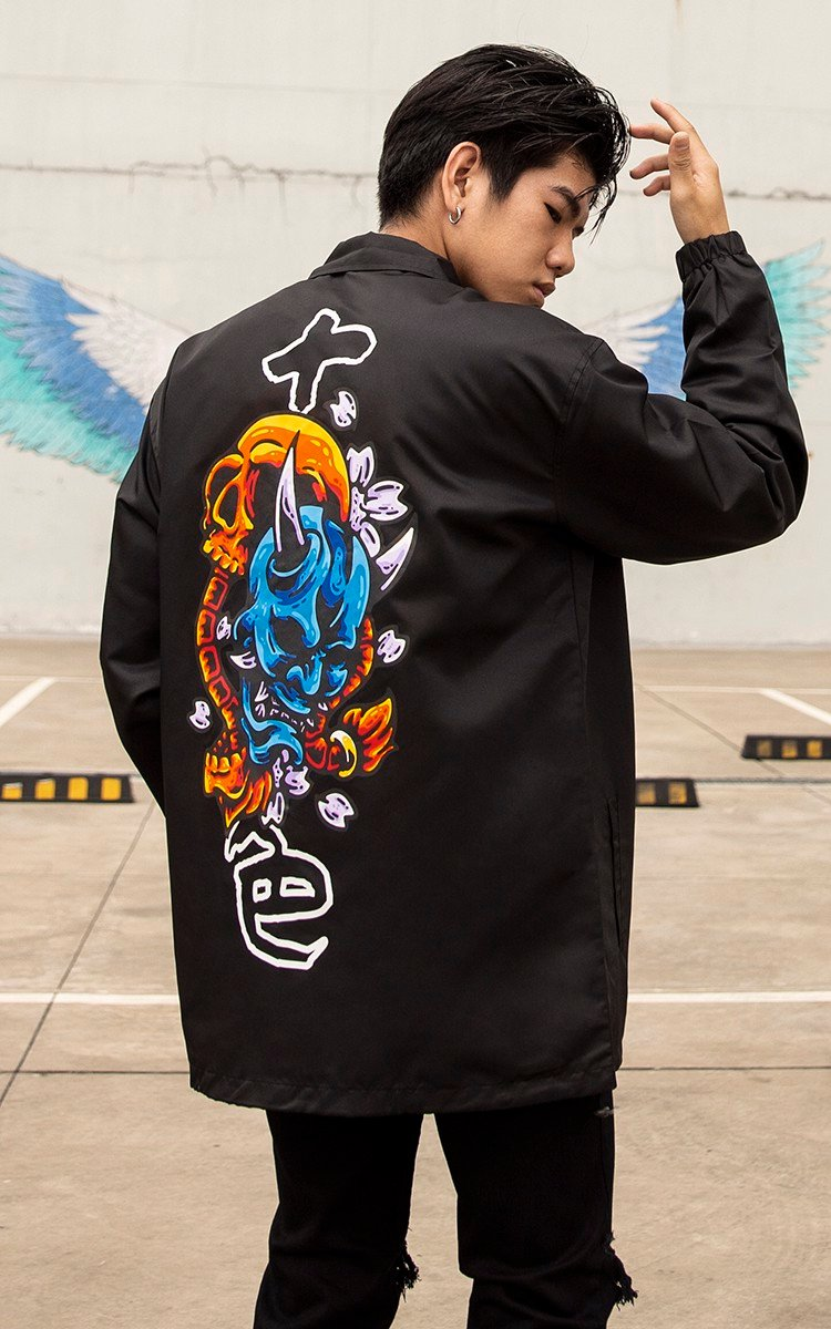 Oni Coach Jacket In Black