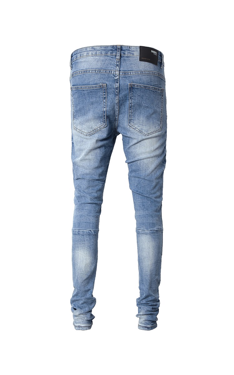 Stack Skinny Jeans In Dark Wash Blue