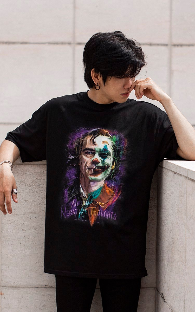 Joker Joaquin Phoenix T-shirt In Black