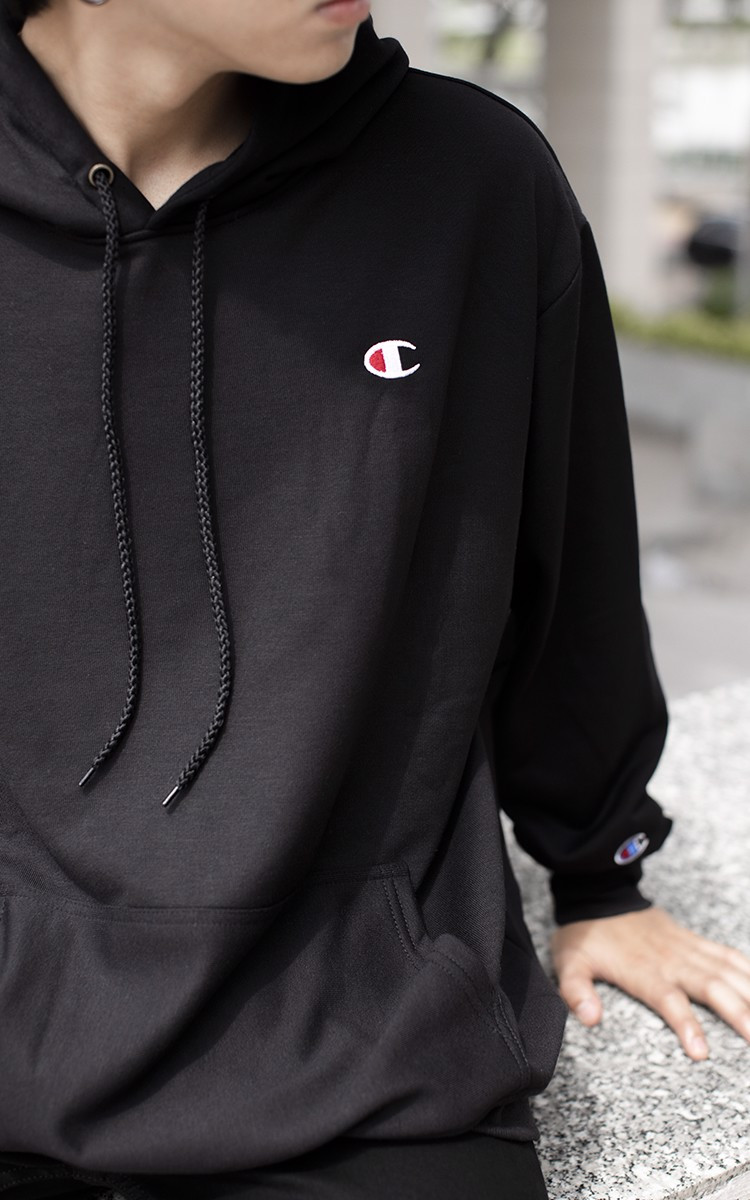 Champion Logo Hoodie In Black