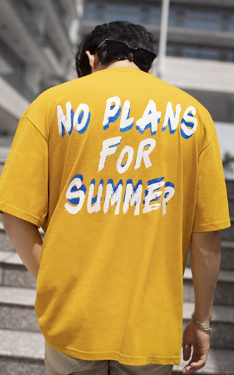 No Plans For Summer T-shirt In Yellow
