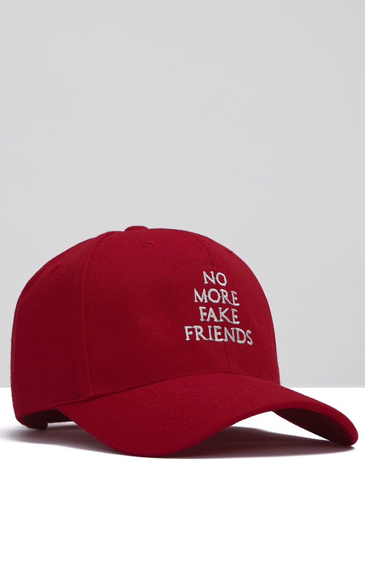 No More Fake Friends Cap In Red