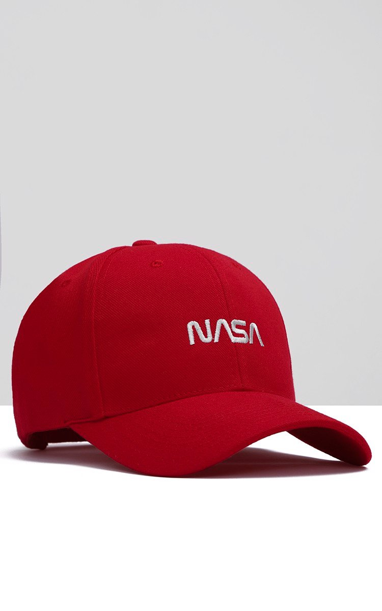 Nasa Cap In Red