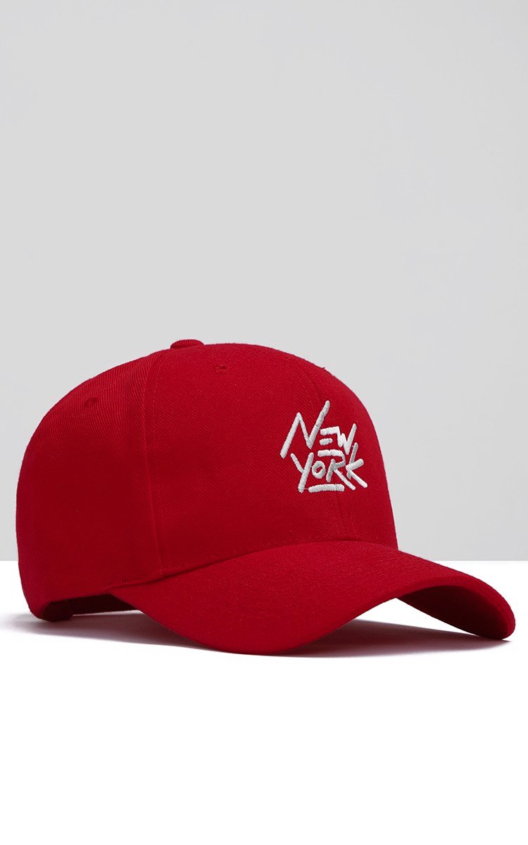 New York Cap In Red
