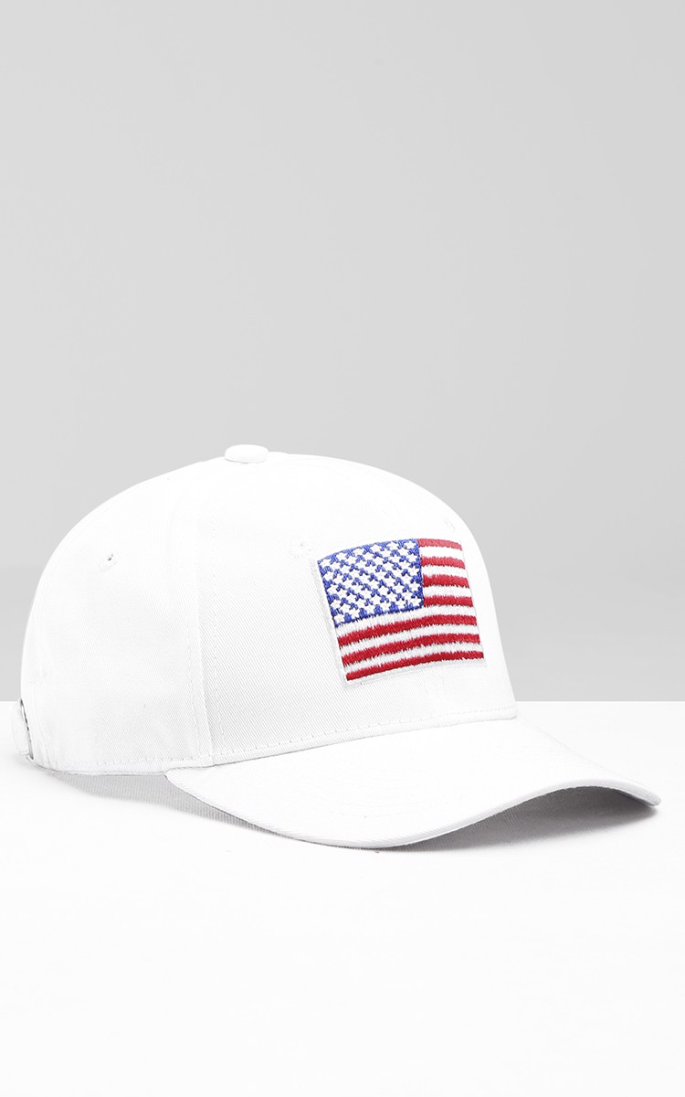 USA Cap In White