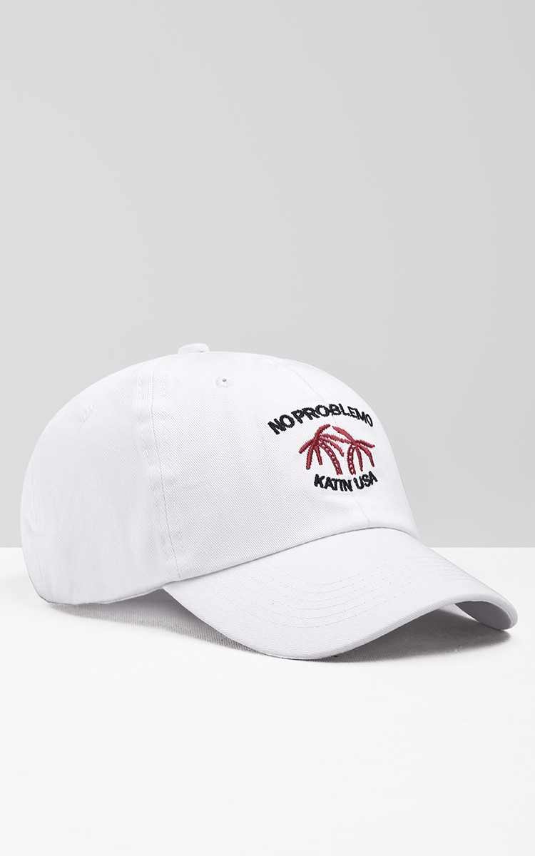 No Problemo Katin USA Cap In White