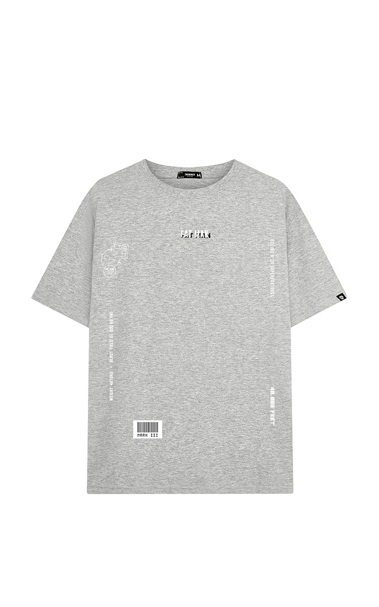 Fat Man Bomb Tee Grey