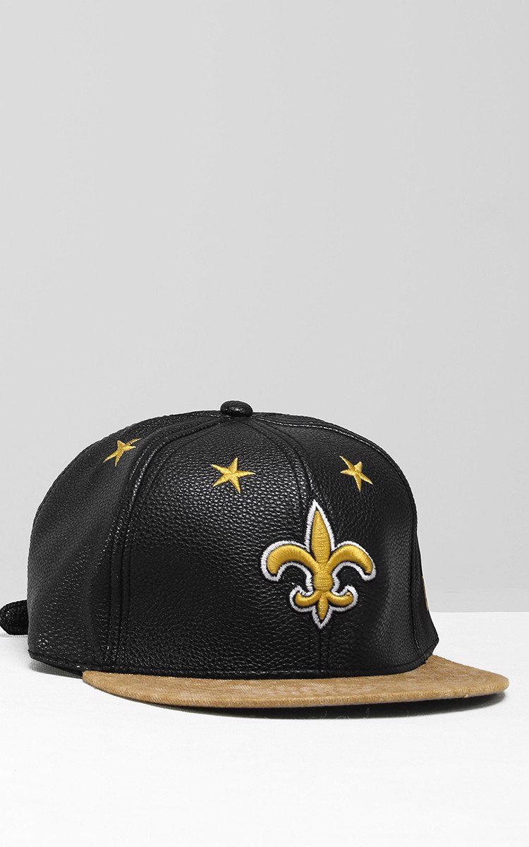 Saints Snapback In Black