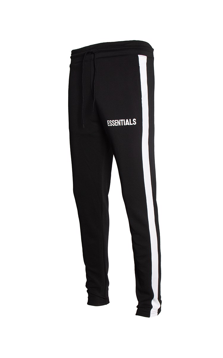 Essentials Sweatpants With Side Stripe In Black
