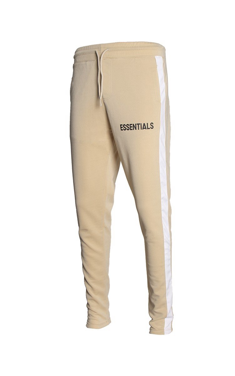 Essentials Sweatpants With Side Stripe In Tan