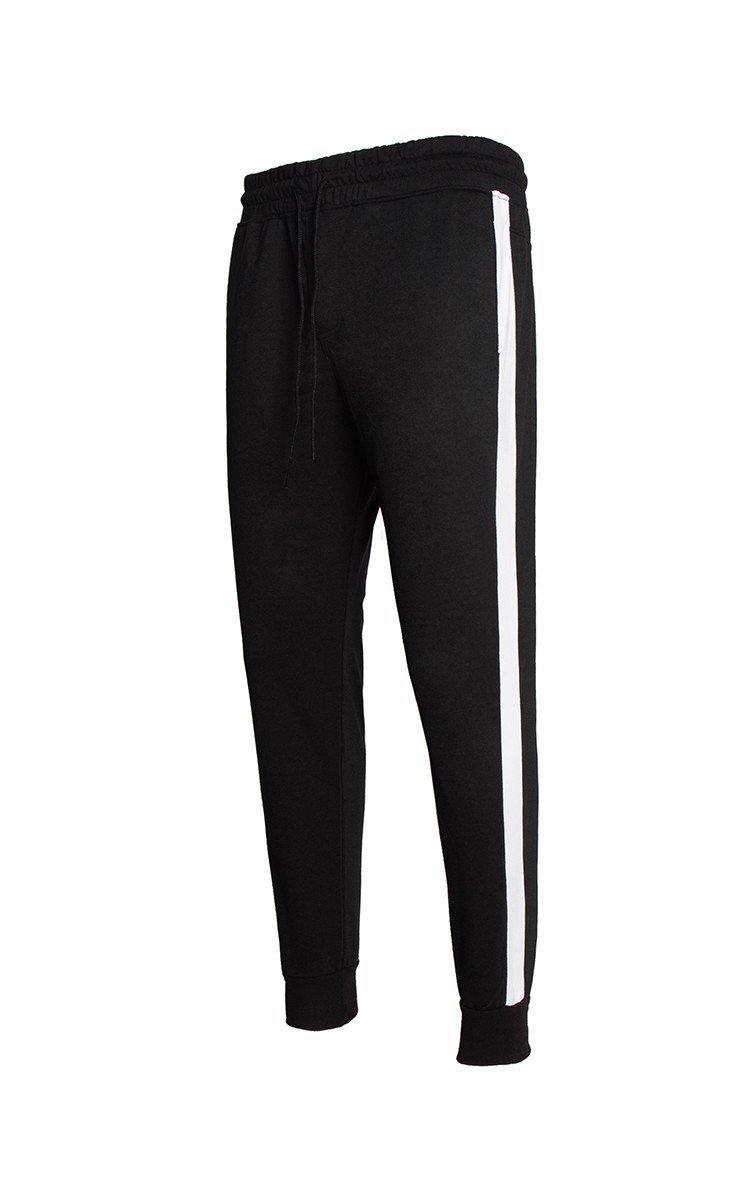 Skinny Jogger With Side Stripe In Black