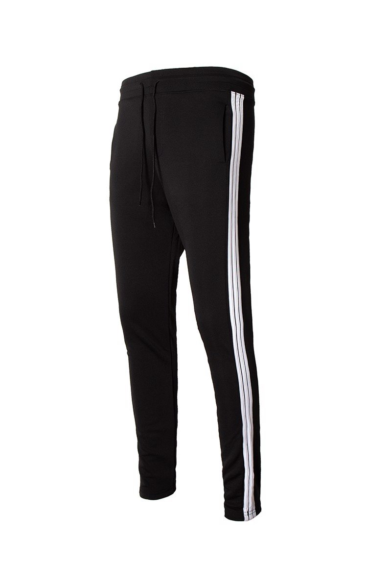 Three Side Stripe Sweatpants In Black