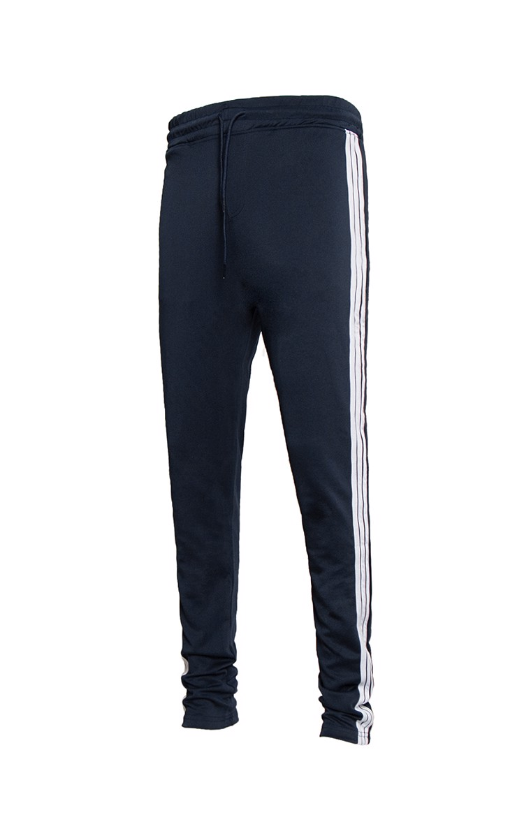 Three Side Stripe Sweatpants In Dark Blue