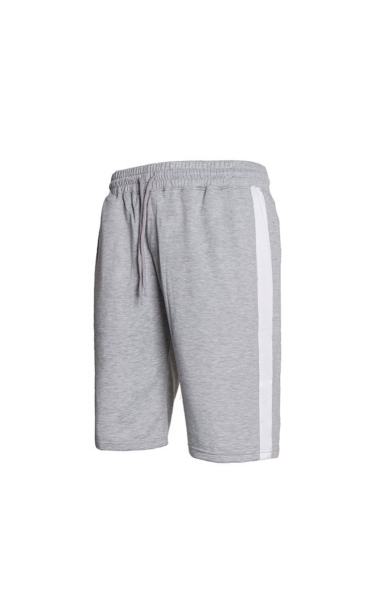 Sweatshort With Side Stripe In Grey