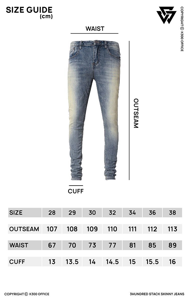 Zip Ripped Knee Stack Skinny Jeans In Blue