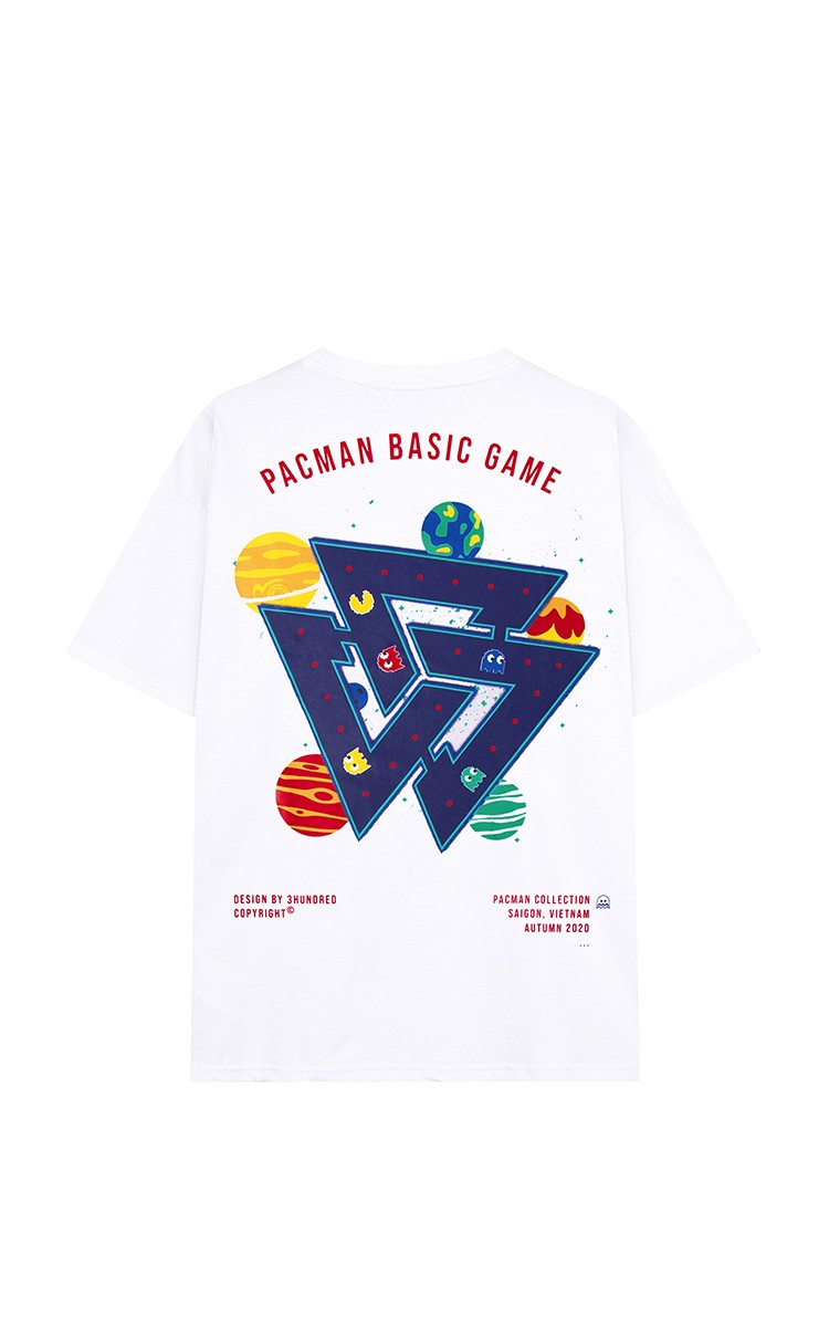 3Hundred Pac-Man Tee White