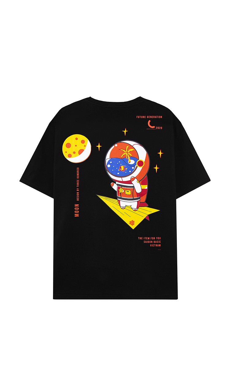 Fly Me To The Moon Tee Black