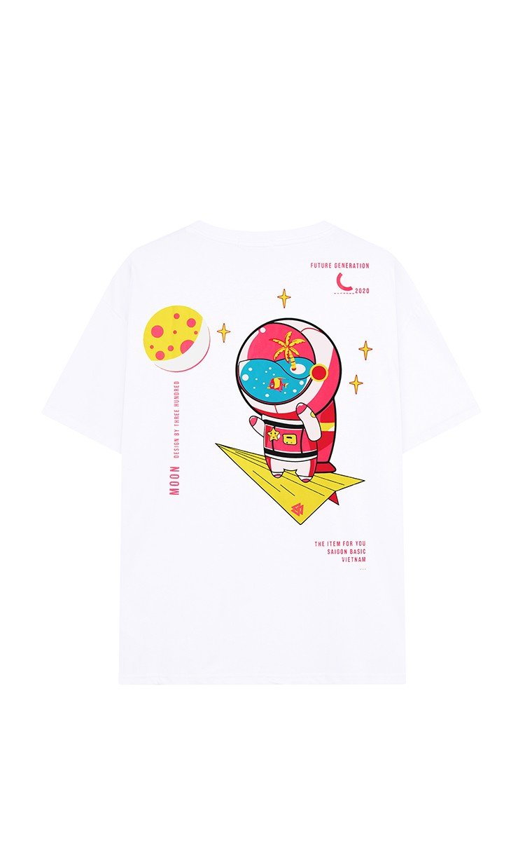Fly Me To The Moon Tee White